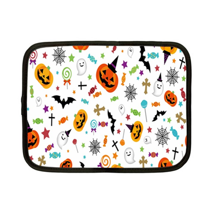 Candy Pumpkins Bat Helloween Star Hat Netbook Case (Small)