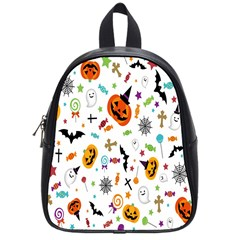 Candy Pumpkins Bat Helloween Star Hat School Bags (small)  by Alisyart