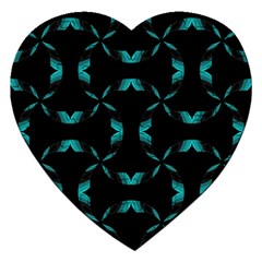 Chevron Blue Wave Jigsaw Puzzle (heart) by Alisyart