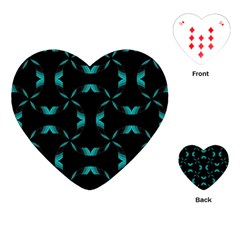 Chevron Blue Wave Playing Cards (heart)