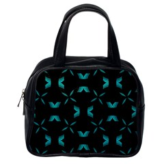 Chevron Blue Wave Classic Handbags (one Side) by Alisyart