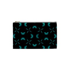 Chevron Blue Wave Cosmetic Bag (small)