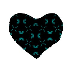 Chevron Blue Wave Standard 16  Premium Heart Shape Cushions by Alisyart