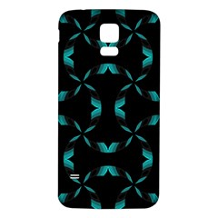 Chevron Blue Wave Samsung Galaxy S5 Back Case (white) by Alisyart