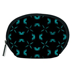 Chevron Blue Wave Accessory Pouches (medium)