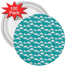 Cloud Blue Sky Sea Beach Bird 3  Buttons (100 Pack)