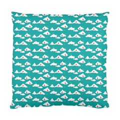 Cloud Blue Sky Sea Beach Bird Standard Cushion Case (one Side)