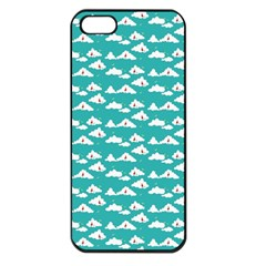 Cloud Blue Sky Sea Beach Bird Apple Iphone 5 Seamless Case (black)