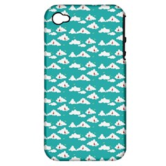 Cloud Blue Sky Sea Beach Bird Apple Iphone 4/4s Hardshell Case (pc+silicone)