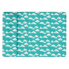 Cloud Blue Sky Sea Beach Bird Samsung Galaxy Tab 10 1  P7500 Flip Case