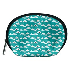 Cloud Blue Sky Sea Beach Bird Accessory Pouches (medium)