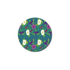 Caterpillar Flower Floral Leaf Rose White Purple Green Yellow Animals Golf Ball Marker by Alisyart