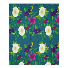 Caterpillar Flower Floral Leaf Rose White Purple Green Yellow Animals Shower Curtain 60  X 72  (medium)