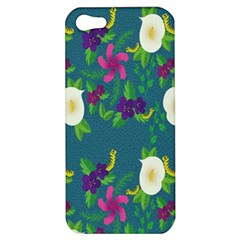 Caterpillar Flower Floral Leaf Rose White Purple Green Yellow Animals Apple Iphone 5 Hardshell Case