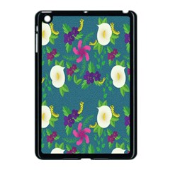 Caterpillar Flower Floral Leaf Rose White Purple Green Yellow Animals Apple Ipad Mini Case (black) by Alisyart