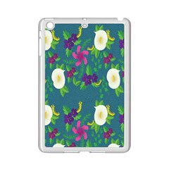 Caterpillar Flower Floral Leaf Rose White Purple Green Yellow Animals Ipad Mini 2 Enamel Coated Cases