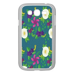 Caterpillar Flower Floral Leaf Rose White Purple Green Yellow Animals Samsung Galaxy Grand Duos I9082 Case (white) by Alisyart