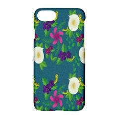 Caterpillar Flower Floral Leaf Rose White Purple Green Yellow Animals Apple Iphone 7 Hardshell Case