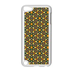 Caleidoskope Star Glass Flower Floral Color Gold Apple Ipod Touch 5 Case (white)