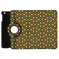 Caleidoskope Star Glass Flower Floral Color Gold Apple Ipad Mini Flip 360 Case by Alisyart