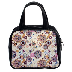 Flower Arrangements Season Floral Purple Love Heart Classic Handbags (2 Sides) by Alisyart
