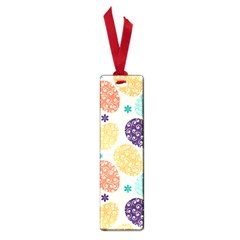 Egg Flower Floral Circle Orange Purple Blue Small Book Marks by Alisyart