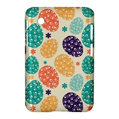 Egg Flower Floral Circle Orange Purple Blue Samsung Galaxy Tab 2 (7 ) P3100 Hardshell Case  by Alisyart