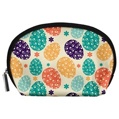 Egg Flower Floral Circle Orange Purple Blue Accessory Pouches (large)