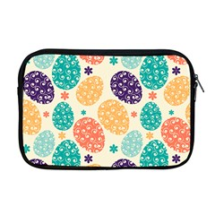 Egg Flower Floral Circle Orange Purple Blue Apple Macbook Pro 17  Zipper Case by Alisyart