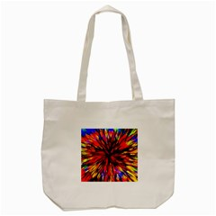 Color Batik Explosion Colorful Tote Bag (cream) by Amaryn4rt