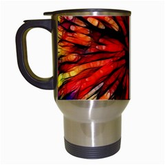 Color Batik Explosion Colorful Travel Mugs (white) by Amaryn4rt
