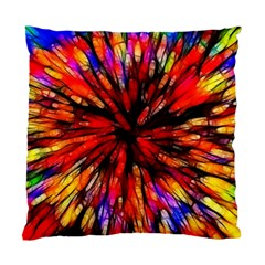 Color Batik Explosion Colorful Standard Cushion Case (two Sides) by Amaryn4rt