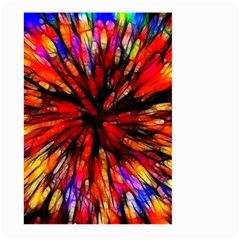 Color Batik Explosion Colorful Large Garden Flag (two Sides) by Amaryn4rt