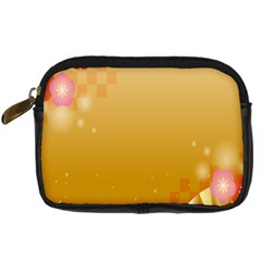 Flower Arrangements Season Floral Orange Digital Camera Cases