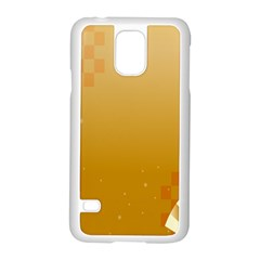 Flower Arrangements Season Floral Orange Samsung Galaxy S5 Case (white)