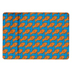 Fish Sea Beach Swim Orange Blue Samsung Galaxy Tab 10 1  P7500 Flip Case