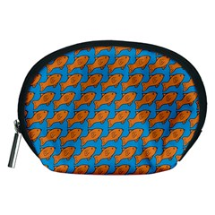 Fish Sea Beach Swim Orange Blue Accessory Pouches (medium)