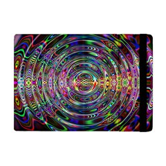 Wave Line Colorful Brush Particles Apple Ipad Mini Flip Case by Amaryn4rt