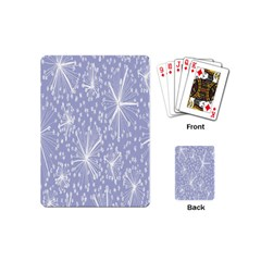 Floral Gray Springtime Flower Playing Cards (mini)