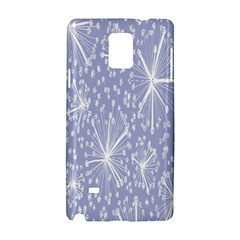 Floral Gray Springtime Flower Samsung Galaxy Note 4 Hardshell Case