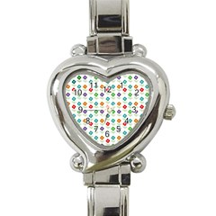 Flower Floral Sunflower Pink Blur Purple Yellow Green Heart Italian Charm Watch