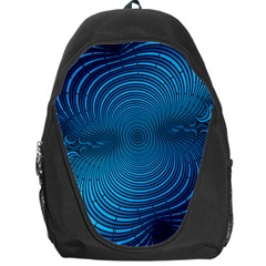 Abstract Fractal Blue Background Backpack Bag