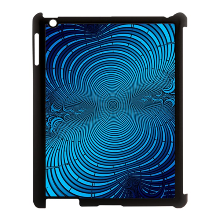 Abstract Fractal Blue Background Apple iPad 3/4 Case (Black)