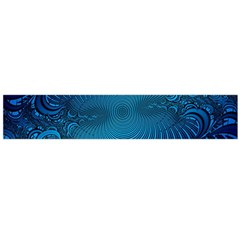 Abstract Fractal Blue Background Flano Scarf (large)