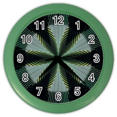 Lines Abstract Background Color Wall Clocks by Amaryn4rt