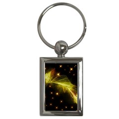 Particles Vibration Line Wave Key Chains (rectangle)  by Amaryn4rt