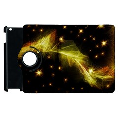 Particles Vibration Line Wave Apple Ipad 2 Flip 360 Case by Amaryn4rt