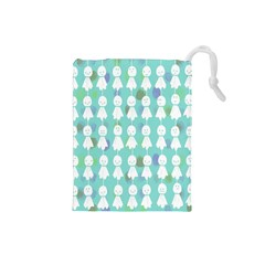 Free Illust Japanese Dolls Rain Antidote Ghost Drawstring Pouches (small)