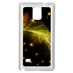 Particles Vibration Line Wave Samsung Galaxy Note 4 Case (white) by Amaryn4rt