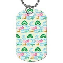 Flower Arrangements Season Sunflower Green Blue Pink Red Waves Dog Tag (one Side)